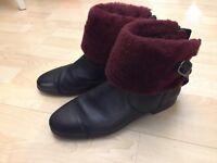 UGG Inez Genuine Shearling Lined Boot Size 8.5 UK