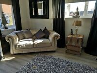 Barker and Stonehouse Beautiful Chester Field Sofa Feather Filled