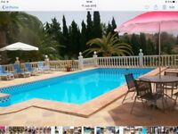 House swap for villa in Spain with own pool...4-6 months