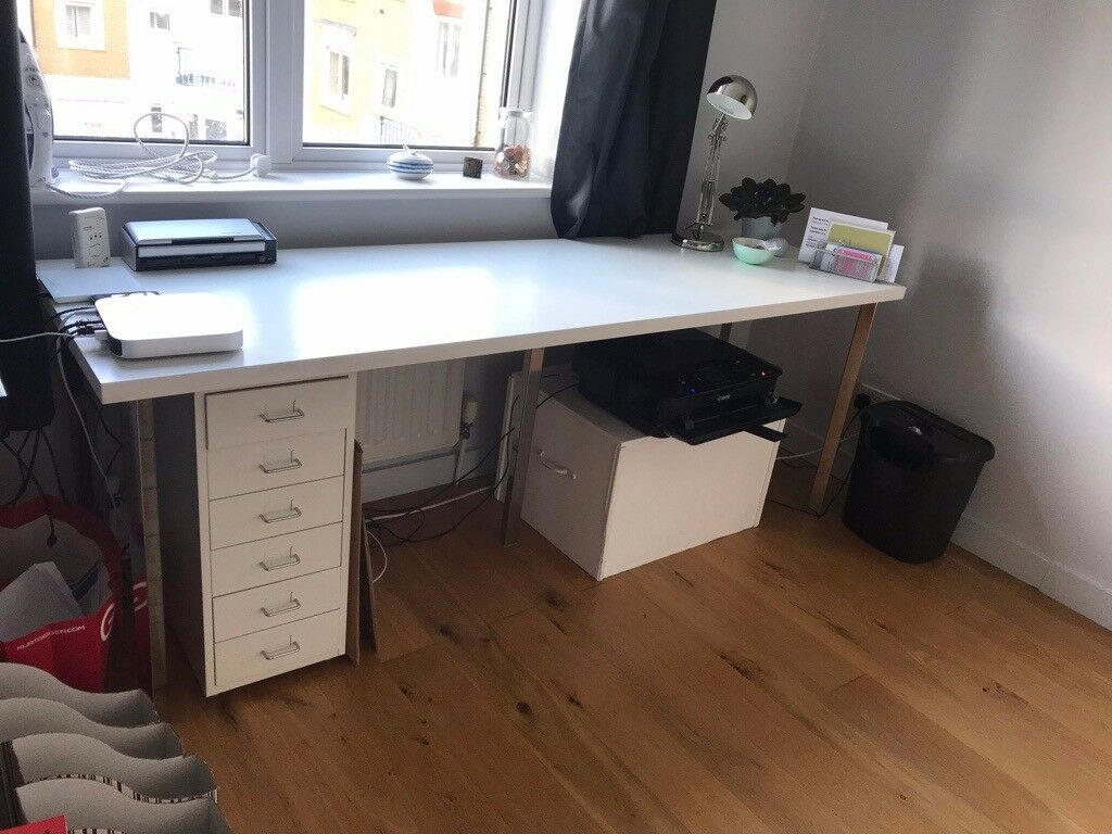 Free ikea desk table linnmon table top cm cm and legs