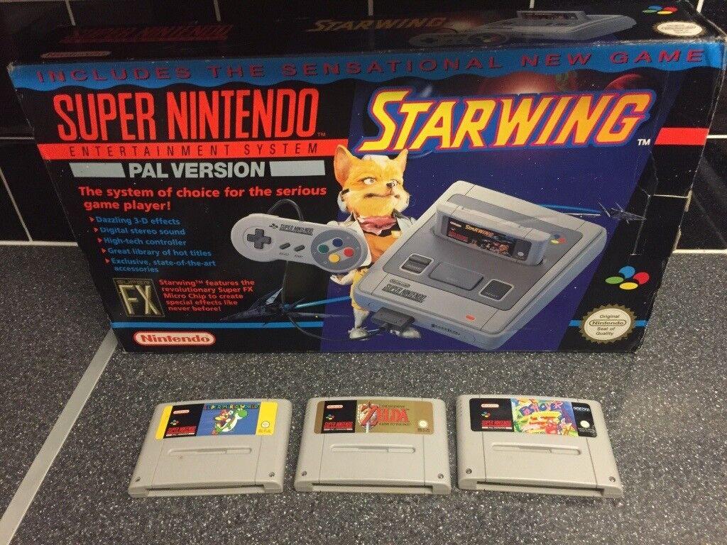 Boxed starwing Super Nintendo complete & 3 games,zelda Snes   in Norwich,  Norfolk   Gumtree