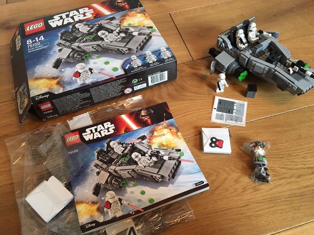 Lego Star Wars 75100 First Order Snowspeeder complete