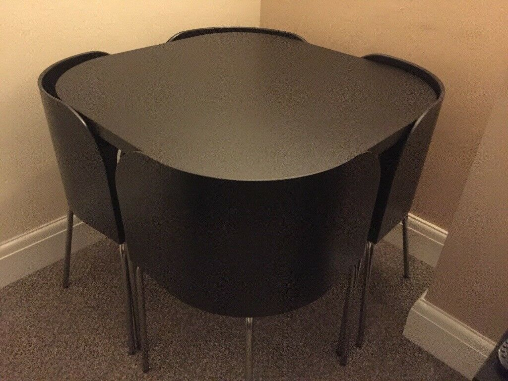 Ikea Fusion Dining Table 4 Chairs Brown Black In Sheffield South Yorkshire Gumtree