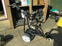 powakaddy FW3 electric golf trolley,36 hole lithium battery,and charger.