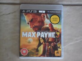 PS3 Game - Max Payne 3 for Sale - £3