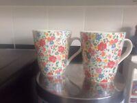 mugs by cath kidston 2 ditsy mews design