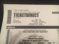X factor Live tour tickets Manchester 2017