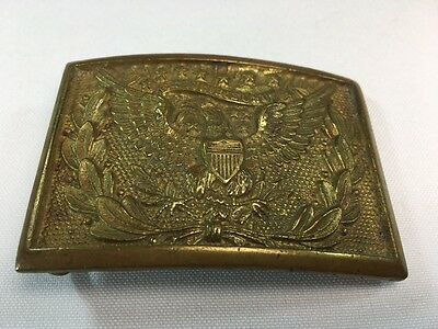 Genuine Post Civil War Brass Belt Buckle American Eagle Design 1874
