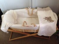 Used Mothercare Moses basket in good condition