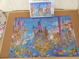 'Crazy World' 1,000 piece Jigsaw Puzzle