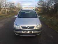 Vauxhall Zafira Design 1.8cc 5 door mpv 7 seater 53/2003 3 former keepers 145k 15 stamps in book upt