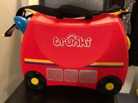 Red 'Fire Engine' Trunki kids ride-on suitcase