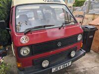 1983 VW CAMPER VAN HI-TOP T3 / T25 1.9 PETROL VW TRANSPORTER Project