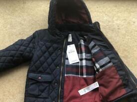 Boys (4yrs) bundle: X2 backpacks, jelly shoes, flipflops, Joules waterproof, M&S coat