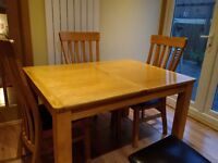 Solid oak extendable dining room table. £150.00 ONO