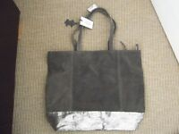 LARGE NEXT GREY SUEDE BAG FOR SALE With tags