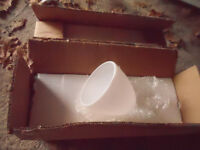 6 frosted glass light shades - boxed.