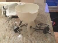Kenwood bowl and mixing attachment sold as seen in photos