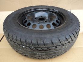 """VW Golf Mk5 Jetta Caddy Touran Skoda Octavia 15"""" Steel Spare Wheel EXCELLENT TYRE 195/65 R15 ET47"""