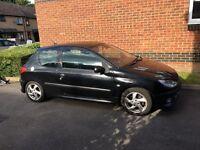 Black Peugeot 206 xsi for sale. 1.6 litre petrol engine 3 door