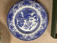 antique blue plates