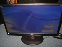 """AOC 20"""" Widescreen LED gaming monitor, excellent condition, e2050, looks new. Others here, plse ask"""