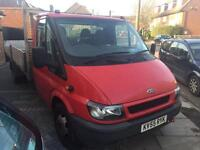 Ford transit 350 LWB drop side + MOT + brand new engine