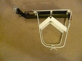 Bicycle and pannier rack-quick saddle stem fitting.