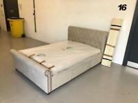 Double bed frame with draws plus mattress