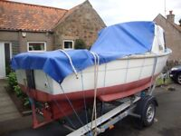 18ft Sea Fishing boat and trailer for sale