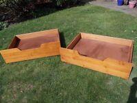 Solid pine underbed storage drawers (pair)