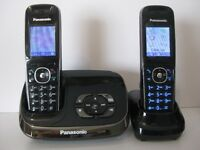 Panasonic Twin DECT Cordless Phones and Answering Machine