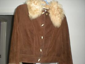 Ladies retro suede jacket