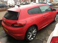 Volkswagen VW Scirocco 2013 R-Line BlueMotion 2.0 TDI Red Very low mileage Damaged ! Cheap! Starts