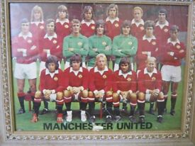 Manchester United 70's Team Picture & Pennant