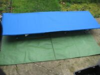 Two Blue Canvas Camp Beds - £15.00 each