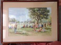 Set of 6 sporting prints in frames