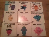 45 mr men books , all in very good condition can sell all together or own there own