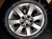 BMW genuine 16 tyres with wheels continental x 4 winter!!! excellent condictions