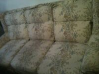 FREE 3 Seater Sofa Settee & Matching Chair & Curtains - with removable Washable Zip Off Covers