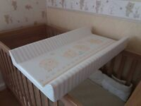 Baby cotbed changing mat