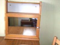 Smart, Compact Bathroom Cabinet in Pine Wood