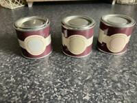 3 Pots Of Farrow & Ball Paint Perfect For Up-Cycling