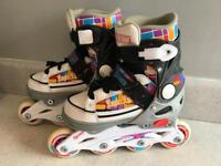 Roller blades (adjustable uk size 11-13)