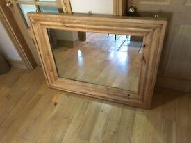 V high quality large mirror BELFAST NEWCASTLE can deliver / meet oak finish livingroom hall bedroom