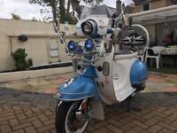 LOOK LOOK Ajs modena 50 vespa looka like Derestricted outstanding looking bike