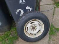 Caravan wheel and brand new tyre