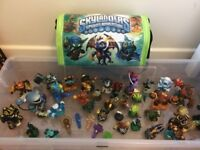 Large Lot Skylander Figures Various Types & Official Carry Case/Hold-all !!