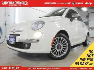 2012 Fiat 500 LOUNGE| LEATHER| BOSE SOUNDS| FOGLIGHTS|