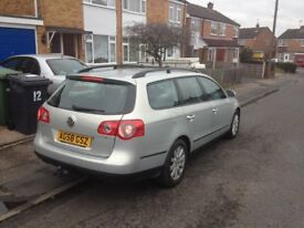 Passat diesel estate 1.9 tdi 58 plate, tow bar